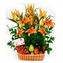 Fruit and Flowers Basket for Mom, Uruguay